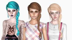 Newsea's Rollcake hair edited by Sjoko - Sims 3 Downloads CC Caboodle