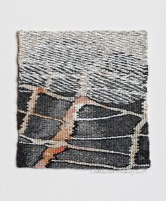 Gallery 2: THE LAND « American Tapestry Alliance; Mette Lise Rössing, 2008, haute-lisse, wool, linen, silk and paper yarn, 16 x 17 cm, (photo by Karl Ravn)