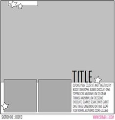 paper: pretty paper. true stories. {and scrapbooking classes with cupcakes.}: Sketch to Scrapbook Page :: Scrapbooking with a large photo