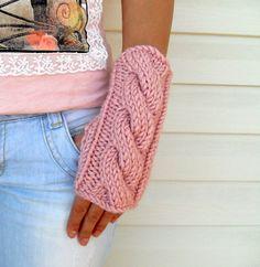 Hand Knit Fingerless Mittens Fingerless Gloves by SmilingKnitting, $24.00