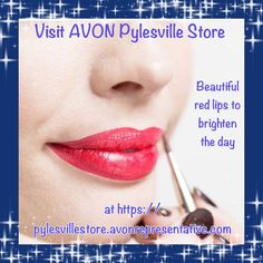 Beautiful red lips brighten the day and are a real confidence booster! Find your shade of red at https://pylesvillestore.avonrepresentative.com #avon #lipstick #makeup #avonpylesvillestore
