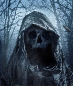 Suppose you're hiking through the woods on the weekend, with your buddies. And you get lost. Then you see this guy. And he says he's been waiting for  you. #horror #death