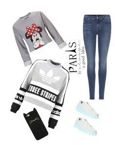 """""""París 🗽"""" by milenataglia ❤ liked on Polyvore featuring Miss Selfridge, adidas Originals, 7 For All Mankind, Wize & Ope, WALL and Forever 21"""