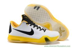 Deals On Kobe Bryant White/Yellow Nike Kobe X