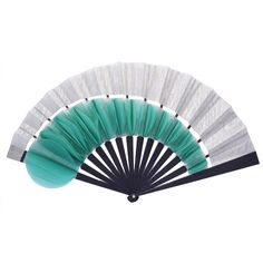 Luxury Silver Petal Hand-Fan by Duvelleroy