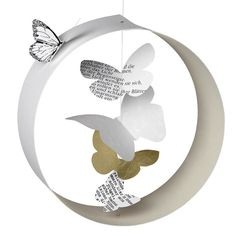 Schmetterlingsgarten von Räder Design - The most beatiful home designs Christmas Crafts, Christmas Decorations, Christmas Ornaments, Diy And Crafts, Paper Crafts, Camping Crafts, Animal Decor, Black Decor, Paper Decorations