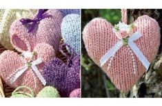 Our pretty little knitted heart pattern make gorgeous decorations for the home as well as making lovely gifts. And the best news? Our pattern is absolutely free! Knitted Heart Pattern, Easy Knitting Patterns, Free Knitting, Knitting Projects, Baby Knitting, Crochet Patterns, Simple Knitting, Knitting Ideas, Creative Knitting