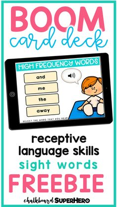 Free Boom Card deck for high frequency sight words Learning Sight Words, Sight Word Practice, Sight Word Games, Sight Word Activities, Receptive Language, Speech And Language, Language Arts, Interactive Learning, Interactive Board