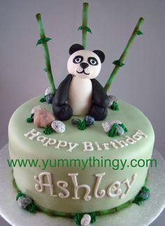panda cake - like the name font