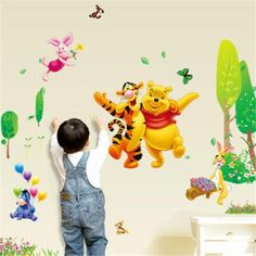 Winnie The Pooh Peel and Stick Wall Decal – the treasure thrift