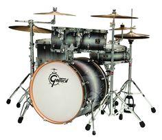 Gretsch Catalina Birch 5 Piece Drumset in Ebony Diamond Halogen Burst Finish - $799