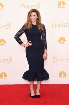 Natasha Lyonne 2014 Emmy Awards Dress by Opening Ceremony; jewels by Vita Fede and Beladora; shoes by Rupert Sanderson.