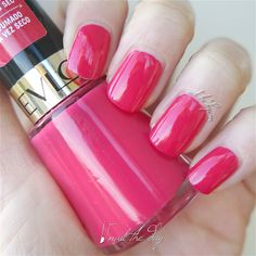 Revlon - Raspberry Rapture - Nail Swatch - Nail The Day - Nail Polish Reviews And Swatches