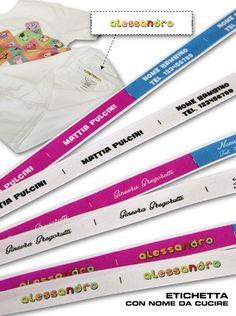 Etichette di cotone personalizzate con Nome