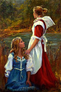Big Sister by Catherine Marchand Oil ~ 30 x 20