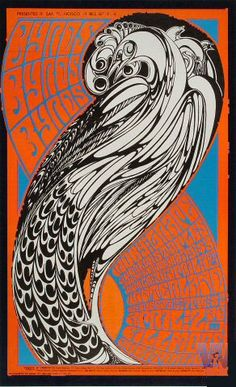 wes wilson ~ byrds poster