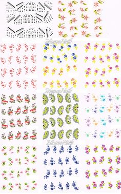 XL Nail Art One Stroke Sticker Set-1-Profi Nageldesign Shop - Nail Art - Naildesign