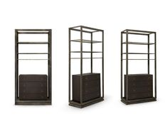 Brass shelving unit with drawers HOPLON by BRABBU