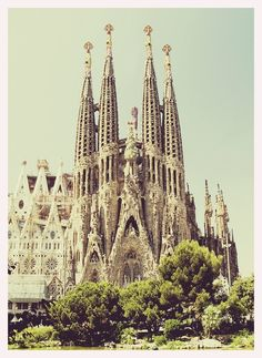 Temple Expiatori de la Sagrada Família. Barcelona, Spain. Visited before it was finished.