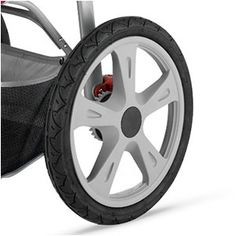 jogging stroller wheel with plastic spokes