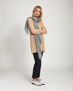 Home Linen Stripe Tunic in Jersey And Tees