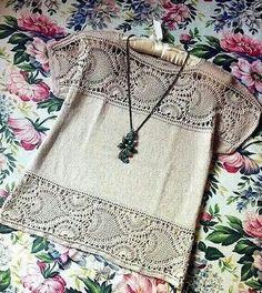 """Delicadezas en crochet Gabriela: Blusa entre dos tela y tejido """"Guarda decorativa """""""