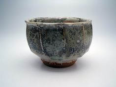 "James Olney  |  Faceted teabowl: wheel-thrown & altered, high-fire reduction (5x5x3.5"")."