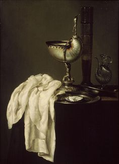Willem Claeszoon Heda (Dutch, 1594-1680), Silver Nautilus Cup, 1640