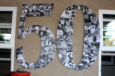 Photo decoration for a 50th birthday...this would be good for anniversary too.