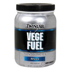 Twinlab Vege Fuel 100 Percent Soy Protein, Mass, Unflavored, 1.18 Pound (Pack of 2) by Twinlab. $20.58. TwinLab Vege Fuel is a dietary supplement with 100-percent Soy Protein. A versatile highly digestible protein powder contains Supro, 100-percent isolated soy (all-vegetable) protein. A superior quality protein source that is low fat, cholesterol free, and