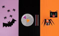 Pour Halloween, j'invite une araignée, un chat, une chauve-souris,...