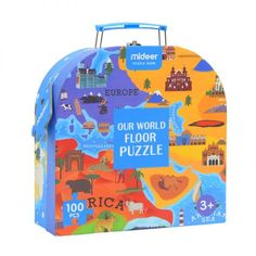 Our World Map Floor Puzzle – 100 Pieces Puzzles, World Map Puzzle, Steam Toys, Floor Puzzle, Human Geography, Puzzle Toys, Our World, Wooden Diy, Games For Kids