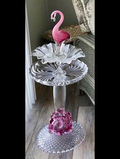 #melodieslovelycreations #birdbath #glasscraft
