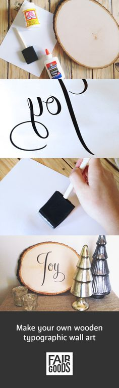 Make your own typographic wooden wall art!