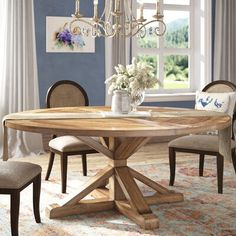 Greyleigh Alpena Dining Table Size: H x Dining Table Sale, Solid Wood Dining Table, Glass Dining Table, Dining Nook, Dining Table In Kitchen, Extendable Dining Table, Table And Chairs, Kitchen Table Decorations, Dining Tables