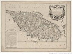 Carte particulière de l'isle de Corse divisé en ses provinces avec ses différens pieves / dressée... par le S. Pruvost