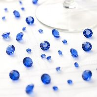 Table Crystals in Royal Blue