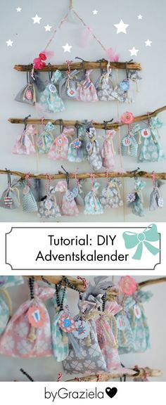 DIY: sew advent calendar- DIY: Adventskalender nähen DIY advent calendar: sewing an advent calendar yourself is very special! Diy Jewelry Unique, Diy Jewelry To Sell, Diy Jewelry Holder, Diy Jewelry Making, Calendrier Diy, Hair Rainbow, Crafts To Sell, Diy Crafts, Wood Crafts