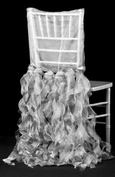 Curly Willow Chiavari Chair Back Slip Cover Edge: Serged; fit with back rest no larger than 15 wide - Silver Chair Back Covers, Chair Backs, Event Decor Direct, Curly Willow, Table Overlays, Wedding Decorations On A Budget, Chiavari Chairs, Chair Sashes, Slipcovers