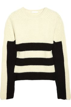 Chloé striped ribbed cashmere sweater