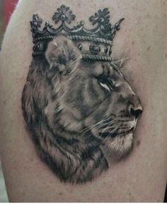 Crowned Lioness - Front of  left shoulder