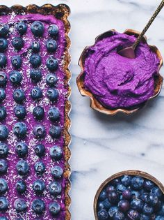 As good as a gluten-free, vegan, refined sugar free purple sweet potato tart sounds, I know that what you really want to read about is me. So here's a gratuitous… Paleo Dessert, Vegan Desserts, Delicious Desserts, Dessert Recipes, Vegan Sweets, Purple Potato Recipes, Sweet Potato Recipes, Purple Yam, Purple Food