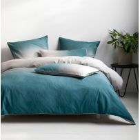 Deco by Linen House Newman Teal Queen Quilt Cover Set