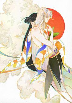 Sesshomaru and older Rin fanart - InuYasha; sesshoumaru vs rin3 by newihsus.deviantart.com on @DeviantArt