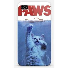 Paws Spoof Jaws The Movie Cell Phone Case iPhone 4 / 5 Samsung Galaxy... (€12) ❤ liked on Polyvore featuring accessories, tech accessories, phone cases, phone, cases, iphones and samsung