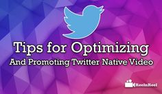 Tips for Optimizing and Promoting Twitter Native Video Seo News, Twitter Video, Marketing And Advertising, Nativity, Ads, Youtube, Birth, Youtube Movies