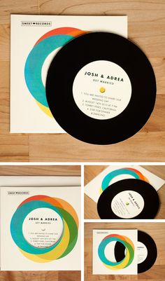 record wedding invitation