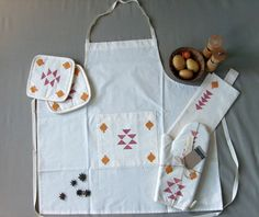 Handmade Tribal-Print Kitchen Apron FREE-Shipping by Yaansoon