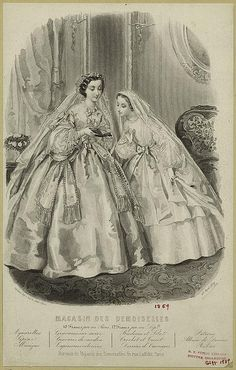 Vintage fashion engraving