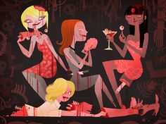 Ladies who lunch... (Zombie Girls by Joey Chou)